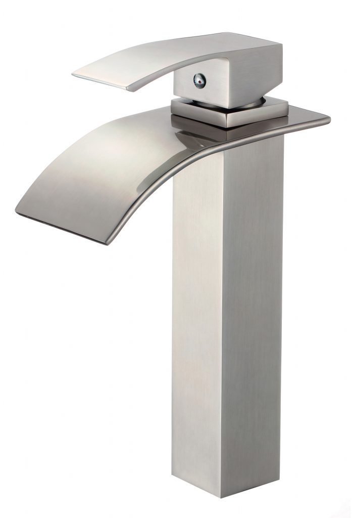 Fountain Series Bathroom Faucet Brushed Nickel Performance Stoneworks